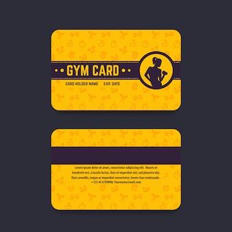 Clube de fitness, modelo de vetor de cartão de academia