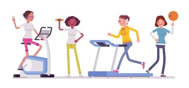 Clube de fitness para mulheres