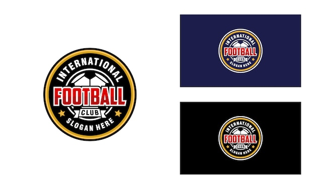 Clube de futebol, design de logotipo de futebol