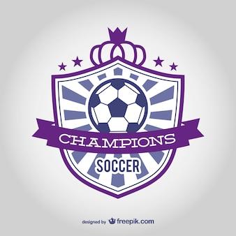 Clube de futebol emblema vector