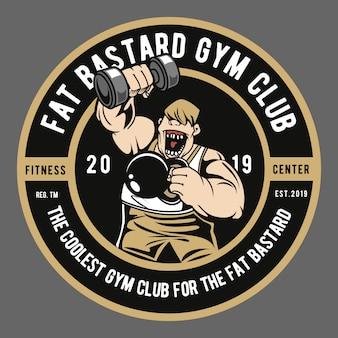 Clube de ginásio gordo e bastardo