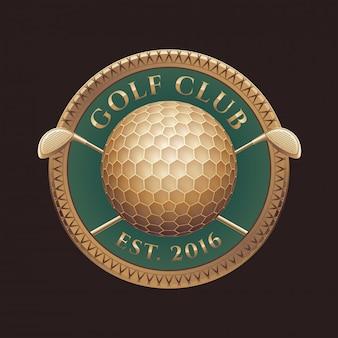 Clube de golfe, logotipo do campo de golfe