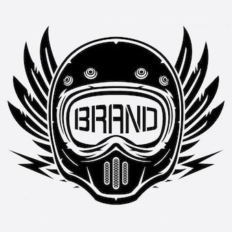 Clube de logotipo de capacete vintage