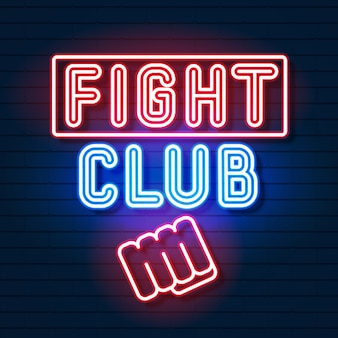 Clube de luta neon logo