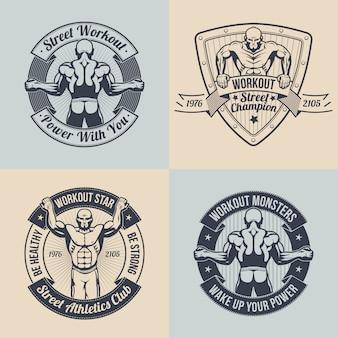 Clube de treino de rua emblema.