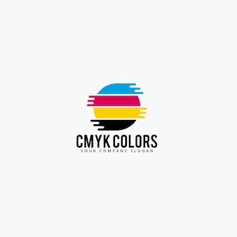Cmyk colors logo