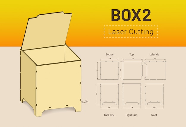 Cnc. caixa de corte a laser.