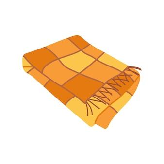 Cobertor quente desenhado à mão para aconchegante outono ou inverno