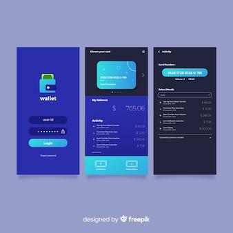 Cobertura de aplicativo móvel plana
