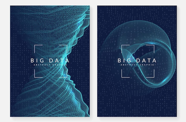 Cobertura de big data. conceito abstrato de tecnologia digital