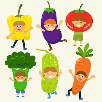Cobertura de trajes de vegetais