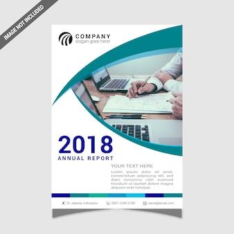 Cobertura do relatório anual branco e verde