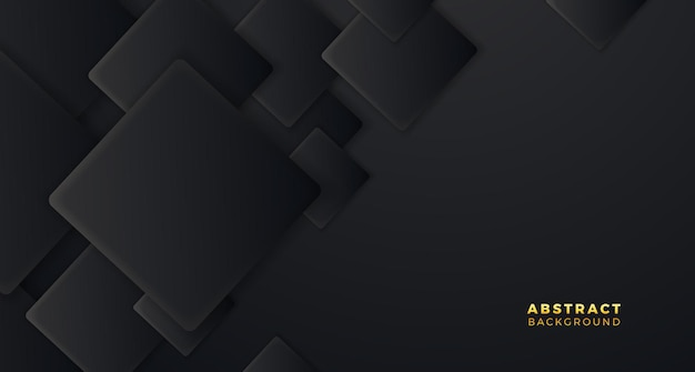 Cobertura geométrica quadrada com padrão preto fundo elegante minimalismo moderno