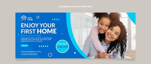 Cobertura plana abstrata geométrica imobiliária do facebook