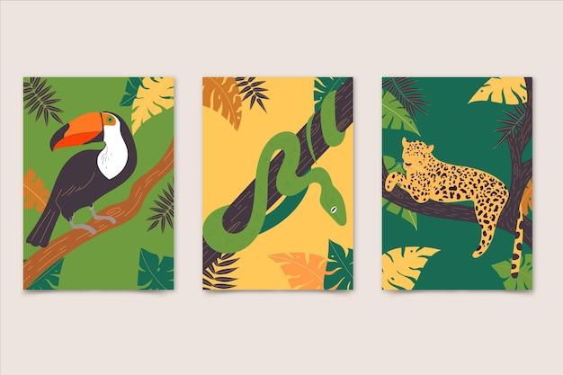Coberturas planas de animais selvagens