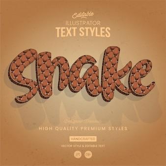 Cobra de estilo de texto animal