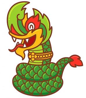 Cobra verde dragão