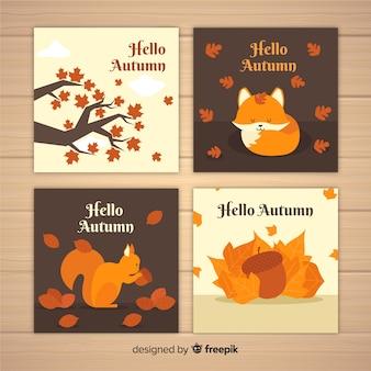 Cobrança, de, apartamento, outono, cartões