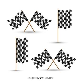 Cobrança, de, checkered, bandeiras