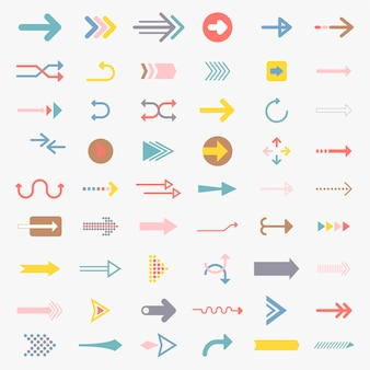 Cobrança, de, ilustrado, sinais seta
