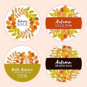 Cobrança, de, outono, venda, etiqueta