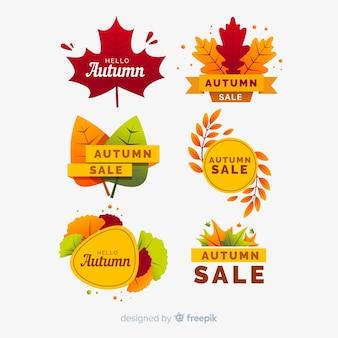 Cobrança, de, outono, venda, etiquetas