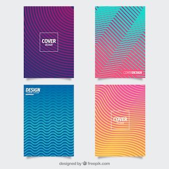 Cobrir coleção de modelo com linhas coloridas
