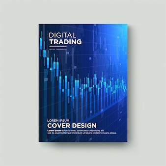 Cobrir negociação. com uma ilustração de um gráfico de cera descendente.
