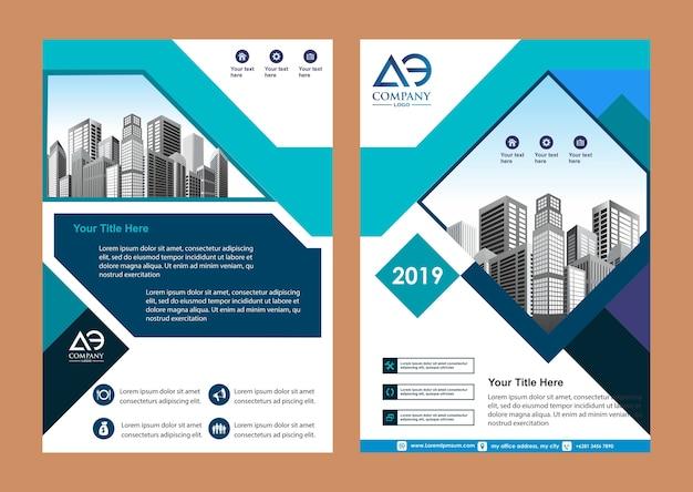 Cobrir o catálogo da revista brochura para o relatório anual