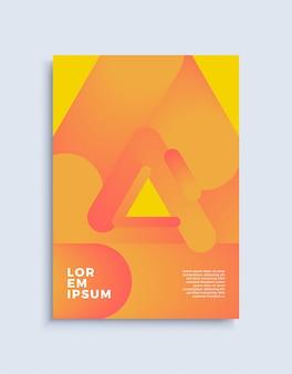 Cobrir o modelo de design abstrato moderno.