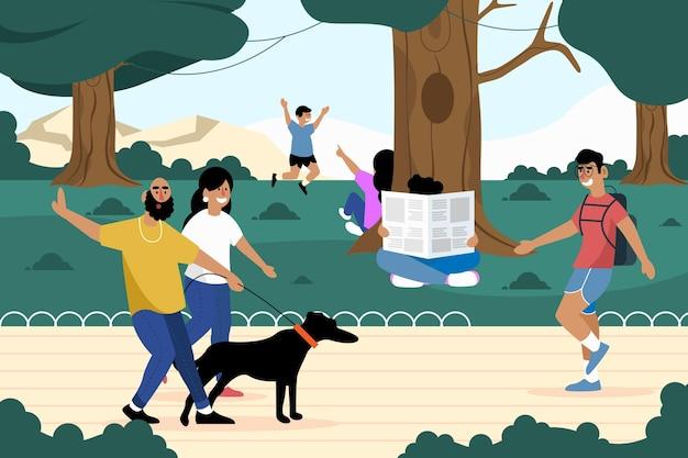 Cocept de atividades ao ar livre