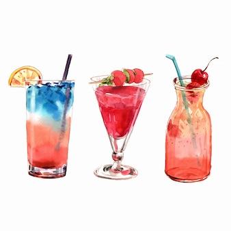 Cocktail com cereja.