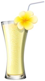 Cocktail de batido em vidro