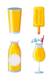 Cocktail de picolé de suco de frutas tropicais