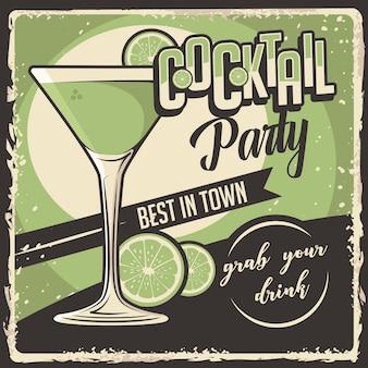 Cocktail signage retro rústico clássico