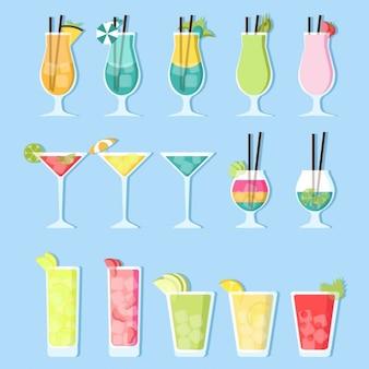 Cocktails de verão planas