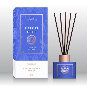 Coco casa fragrância fura modelo de caixa abstrata.