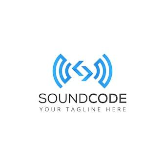 Code sound logo vector