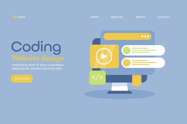 Codificação de web design