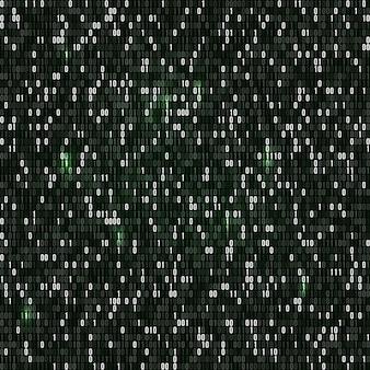 Código binário com números um e zero
