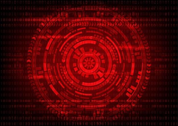 Código binário da tecnologia abstrata e fundo da engrenagem.