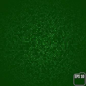 Código binário, dígitos verdes na tela do computador.