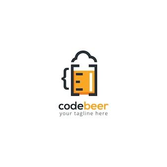 Código brew beer logo