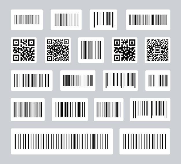 Código de barras das etiquetas e preço do código qr