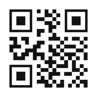 Código qr cor preta isolada no fundo para pagamento móvel e aluguel de transporte de cidade de identidade ui