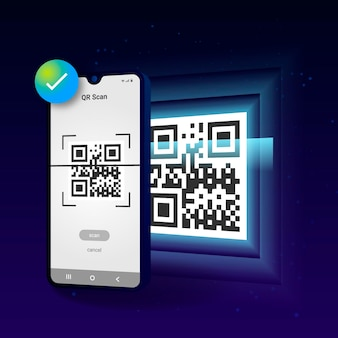 Código qr da digitalização do telefone móvel