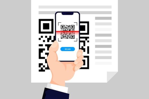 Código qr da digitalização do telefone
