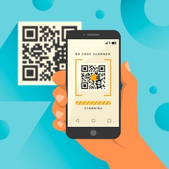 Código qr de digitalização para smartphone