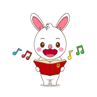 Coelhinha fofa cantando uma música