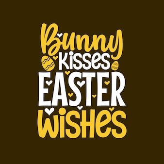 Coelhinho beija desenho de letras dos desejos da páscoa